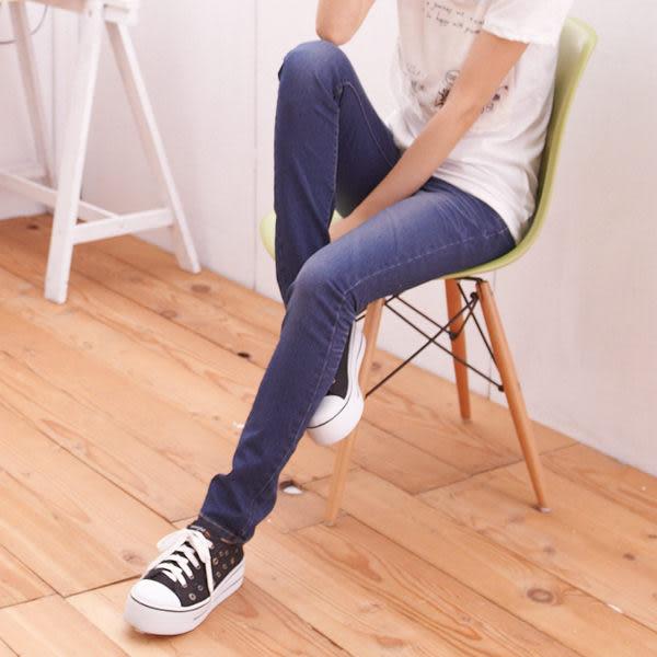 窄管 完美修身曲線-完美刷色壓皺後口袋W車線窄管牛仔褲/鉛筆褲 N65 Ringbear眼圈熊