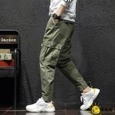 春夏季薄款速幹褲男士戶外休閒褲多袋寬鬆直筒沖鋒褲子長褲工裝褲
