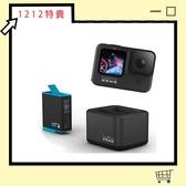 【雙12特賣】GOPRO HERO 9 BLACK 全方位攝影機+ADDBD-001 雙電池充電器+電池 (hero9 ADDBD001,公司貨)