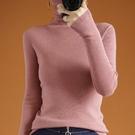 羊毛衫 打底衫女秋冬款堆堆領針織衫羊毛衫毛衣內搭高領修身顯瘦羊絨洋氣【新春鉅惠】