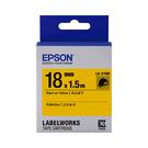 EPSON LK-5YBR C53S655417 反光系列黃底黑字標籤帶 寬度18mm