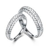 925純銀戒指 鑲鑽-擁有幸福生日情人節禮物男女配件73an60[巴黎精品]