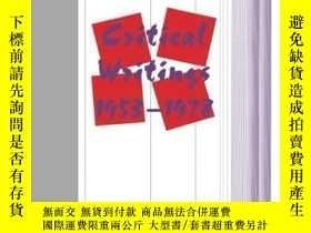 二手書博民逛書店Critical罕見Writings, 1953-1978 (theory And History Of Lite