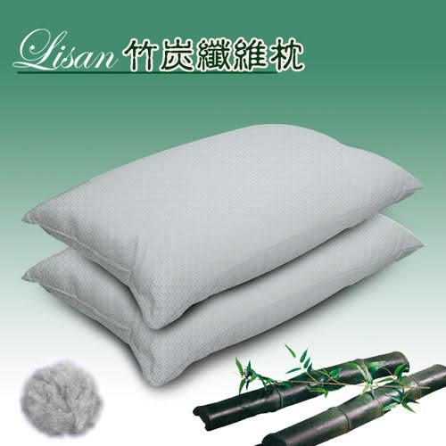 《lisan》竹炭纖維枕(超值2入)-台灣製