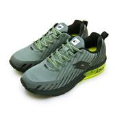 LIKA夢 LOTTO 專業緩震氣墊慢跑鞋 疾風KPU 系列 灰黑綠 7088 男