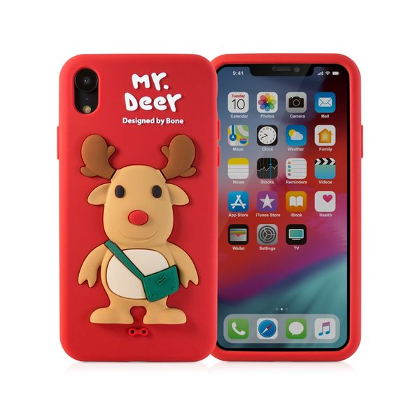 【BONE】IPhone XR 公仔保護套-麋鹿先生