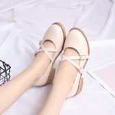 日系娃娃鞋瑪麗珍鞋平底圓頭小皮鞋森女復古淺口女鞋春秋新款單鞋 潮流前線
