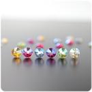 耳環 星光 奧地利水晶 5.0mm 透明耳針/耳夾 (單只價) i917ღ