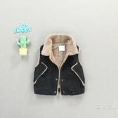 童裝6個月男寶寶冬裝加絨牛仔馬甲0-1-2-3歲男童夏季裝韓版背心外套