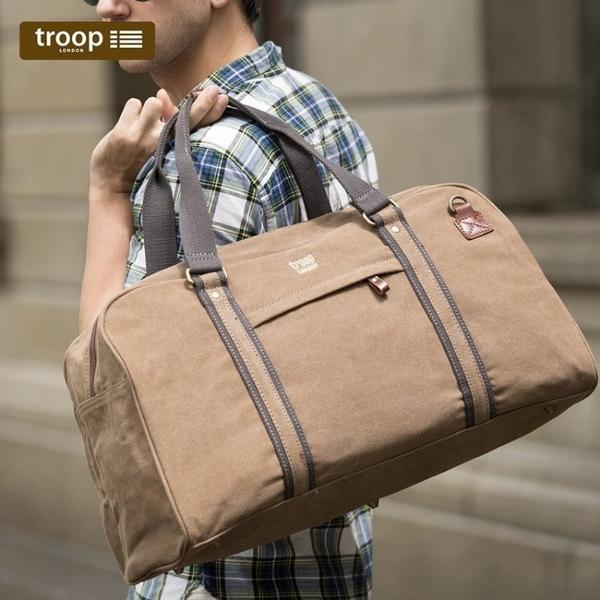 【TROOP】經典品格CLASSIC旅行包/TRP0389BN(棕色)