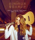 吉他吉他星臣民謠41寸木入門初學者學生新手練習男女jita樂器『櫻花小屋』