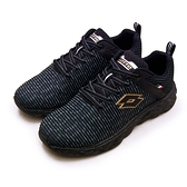 LIKA夢 LOTTO 專業輕量透氣慢跑鞋 TRON創跑系列 黑灰金 2520 男