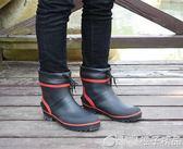 新款短筒低筒矮幫輕便舒適防臭防滑帥氣男款釣魚雨鞋雨靴水鞋膠鞋 橙子精品