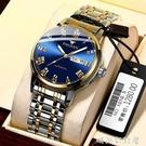 超薄男士手錶男錶防水腕錶學生韓版非機械錶運動雙日歷石英錶「時尚彩紅屋」