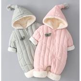 新生兒 小童加厚抓絨小精靈連帽 連身衣 外套 連帽 連身外套 外套 兔裝 童裝 男嬰 女嬰