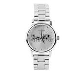 【COACH】小款錶盤馬車圖案女錶(銀色) 14502975