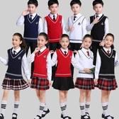兒童大合唱演出服中小學生詩歌朗誦表演服校服男女童團體合唱服裝 MKS免運