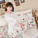 床包被套組 / 雙人【玫瑰粉格】含兩件枕...
