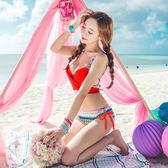 涼感新款韓式三角比基尼女泳衣時尚性感1403聚攏多種穿法【非凡】