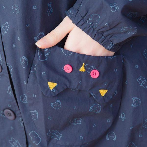 【衣大樂事】公仔口袋印花外套
