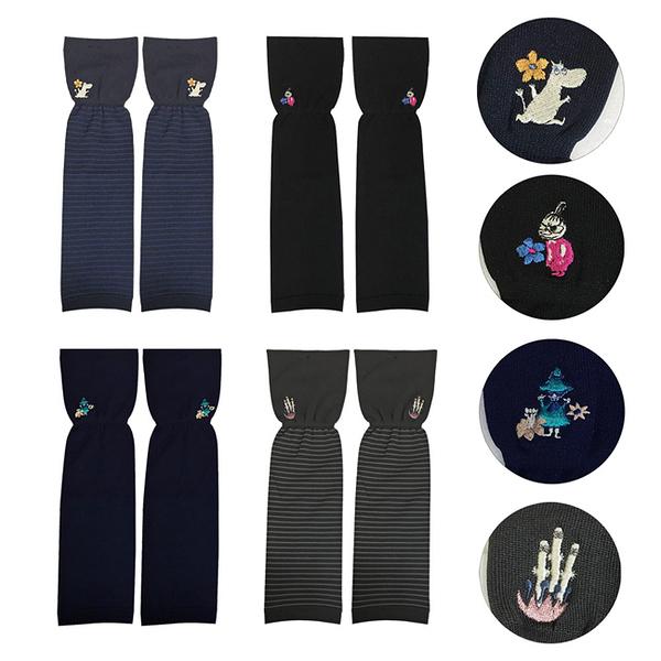 【日本正版】嚕嚕米 抗UV 袖套 日本製 防曬袖套 小不點 溜溜們 慕敏 610494 610500 610517 610524