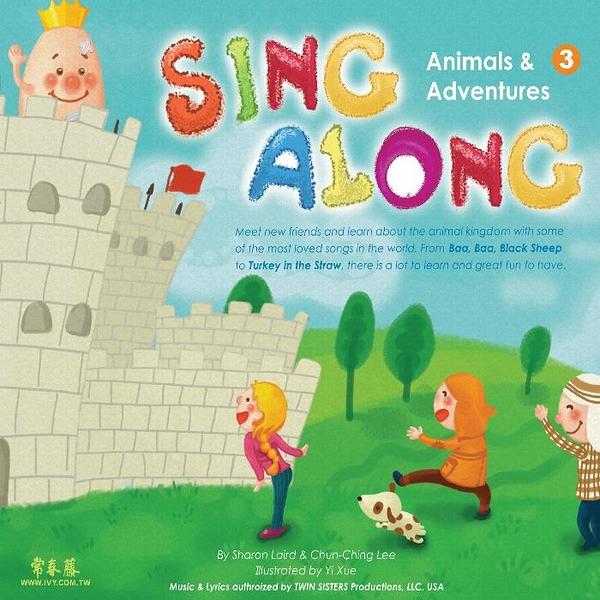 (二手書)Sing Along 第三輯: Animals & Adventures +1CD