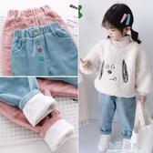 女童燈芯絨褲子秋冬裝外穿棉褲兒童洋氣加絨加厚女寶寶休閒保暖褲 小艾時尚
