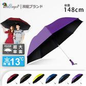 【JoAnne就愛你】雙龍牌148公分魔術大空間-大王冷靜自動折傘黑膠自動傘(超撥水降溫晴雨傘)B6535
