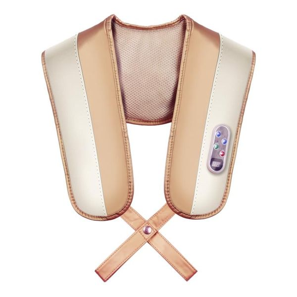 樂臣捶打披肩頸部腰部肩部肩膀背部加熱捶背頸肩樂肩頸椎按摩器儀 igo