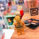 正版 LEGO 樂高鑰匙圈 STAR WARS C-3PO 人偶鑰匙圈 鎖圈 吊飾 COCOS FG280