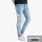 天空藍個性造型牛仔褲