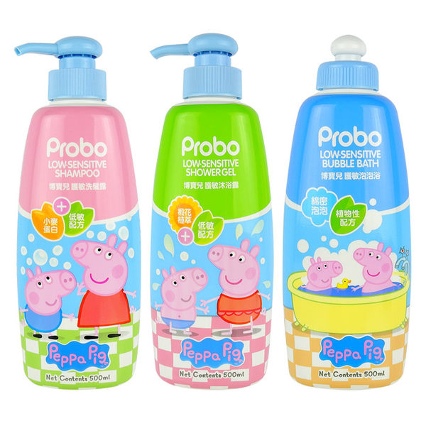 Probo 博寶兒 佩佩豬 護敏系列 500mL 洗髮露/沐浴露/泡泡浴◆86小舖◆