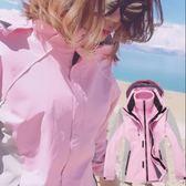雙12購物節   沖鋒衣女男三合一春秋加絨加厚可拆卸戶外登山服裝外套   mandyc衣間