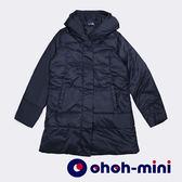 【ohoh-mini孕婦裝】多功能親子羽絨衣(黑色)
