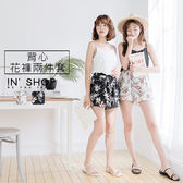 IN' SHOP 夏日細肩背心花褲套裝-共2色【KT24198】