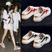 懶人半拖女外穿年夏季新款厚底涼拖百搭韓版網紅包頭小白鞋子 依凡卡時尚