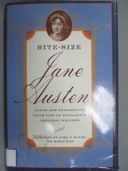 【書寶二手書T1/原文小說_HNQ】Bite-Size Jane Austen_Karen Baji