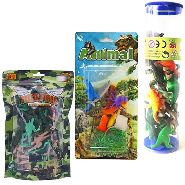 仿真恐龍模型筒 海洋生物 士兵軍人 公仔 侏羅紀恐龍玩具 兒童模型玩具 6852 好娃娃