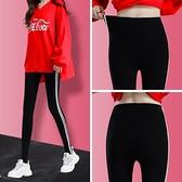 打底褲女外穿夏季薄款秋裝2020年新款彈力緊身運動瑜伽黑色女褲子 蘿莉新品