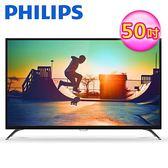 【Philips 飛利浦】50型4K低藍光智慧連網顯示器+視訊卡(50PUH6052)