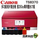 【搭250cc六色專用填充墨水】Canon PIXMA TS8370多功能相片複合機