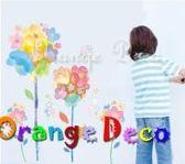 壁貼【橘果設計】油畫花卉 DIY組合壁貼/牆貼/壁紙/客廳臥室浴室幼稚園室內設計裝潢