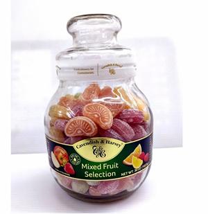 [COSCO代購] C912075 CAVENDISH & HARVEY FRUIT CANDIES GLASS JAR 水果硬糖玻璃罐裝1023G