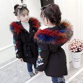 兒童長款棉衣外套女童棉衣新款韓版冬季中長款外套兒童加厚棉服寶寶洋氣冬裝潮走心小賣場