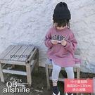 女童洋裝 英文字母寬鬆魚尾連身裙 18617160