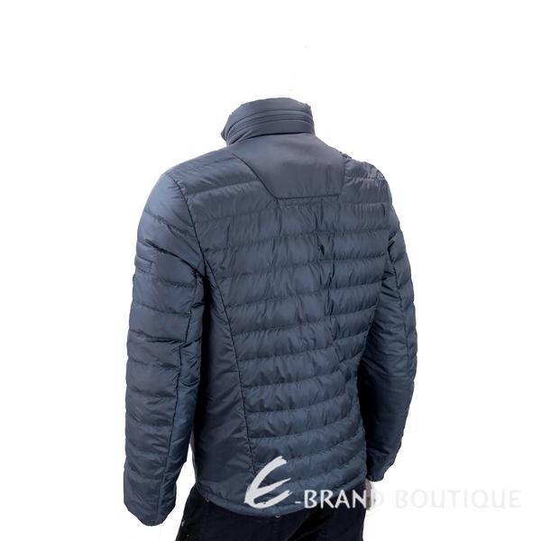 PRADA 三角牌深藍色絎縫連帽羽絨外套(男款/帽可收) 1830444-34