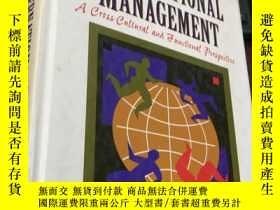 二手書博民逛書店INTERNATIONAL罕見MANAGEMENT : A Cross-Cultural and Function