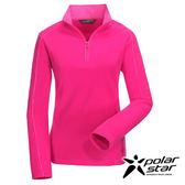 Polarstar 女雙刷花漾保暖上衣『桃粉紅』透氣│保暖│刷毛 P16256