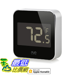 [107美國直購] Eve Degree Connected Weather Station with Apple HomeKit technology for tracking temperature humidity