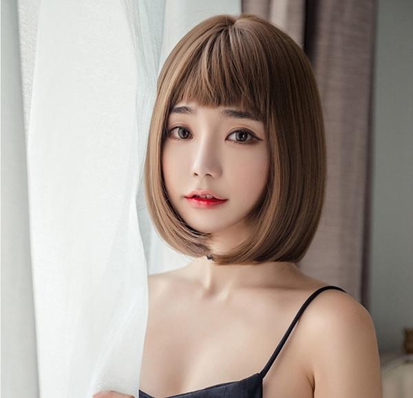 *╮Kinkee假髮╭*極致甜美  狗啃式劉海 自由分線 BOB  短髮 假髮【S1100】